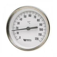 Термометр биметалл накладной с пружиной FR810 (TAB) ø80 120°С Watts