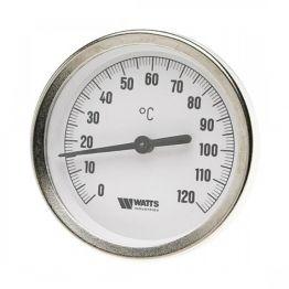 Термометр биметалл накладной с пружиной FR810 (TAB) ø63 120°С Watts