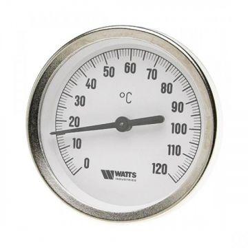 Термометр биметалл накладной с пружиной FR810 (TAB) ø80 120°С Watts 10006505