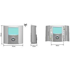 Радиотермостат электронный программируемый, ЖК дисплей с подсветкой BTDP-RF Watts