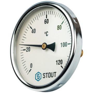 Термометр биметаллический с погружной гильзой корпус ø100 мм гильза 50 мм 1/2 Stout SIM-0001-105015