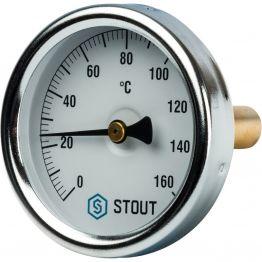 Термометр биметаллический с погружной гильзой корпус 63 мм гильза 50 мм 1/2