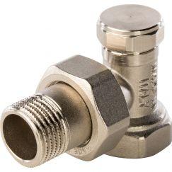 """Клапан запорно-балансировочный угловой 1/2"""" Stout"""