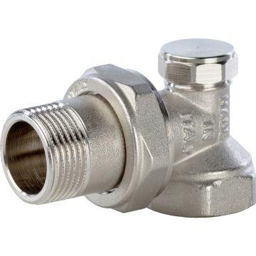 Клапан запорно-балансировочный угловой 3/4 Stout SVL-0004-000020