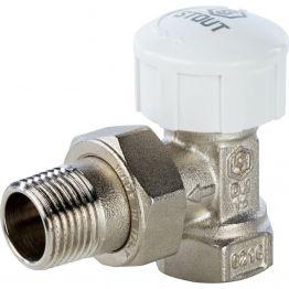 """Клапан термостатический угловой 1/2"""" Stout"""