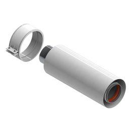 Элемент дымохода ø60/100 труба коаксиальная 250мм уплотнения и хомут в комплекте Stout