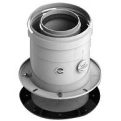 Элемент дымохода ø60/100 адаптер для котла вертикальный коакс (Bosch, Buderus) Stout