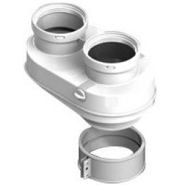 Элемент дымохода ø80/80 адаптер для подключения разд. труб (Baxi) PP-Ryton Stout