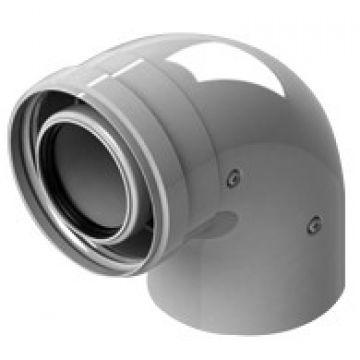 Элемент дымохода конденсац. ø60/100 адаптер для котла угловой 90° м/п PP-FE (Baxi, Viessman) Stout SCA-8610-210090