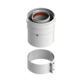 Элемент дымохода ø60/100 адаптер для котла вертикальный коакс (Vaillant, Protherm New) Stout