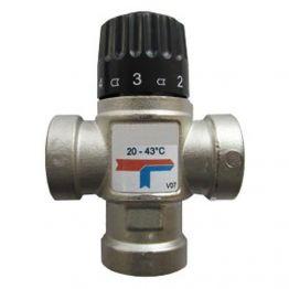 """Клапан смесительный термостатический для отопления и ГВС 1"""" НР 20-43°C KV 1,6 м3/ч Stout"""