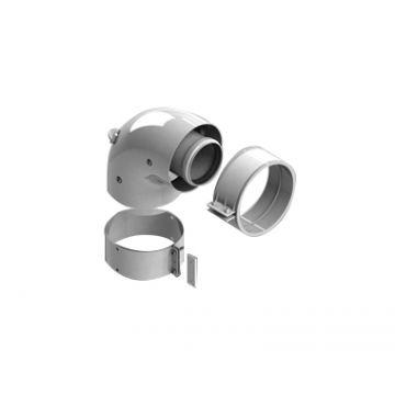 Элемент дымохода ø60/100 адаптер для котла угловой 90° коакс (Vaillant, Protherm New) Stout SCA-6010-230190