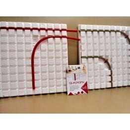 Маты для водяного теплого пола QUADROFIX Light ППС-20 (размер мата 1000мм*1000мм*40мм)