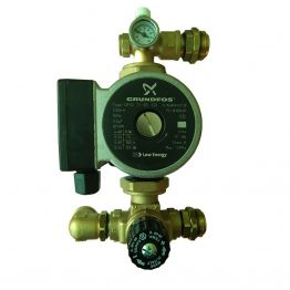 Насосно-смесительный узел с термостатическим клапаном - Grundfos UPSO 25-65 130 Stout