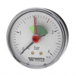 Манометр аксиальный F+R101 (MHA) ø50мм (0-4 бар) 1/4 Watts 10008089