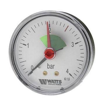 Манометр аксиальный F+R101 (MHA) ø63мм (0-4 бар) 3/8 Watts 10008091