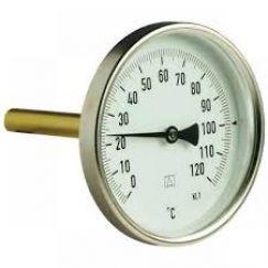 Термометр биметалл с погружной гильзой F+R801 (T) ø100/50 120°С резьба с самоуплотнением Watts