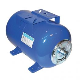 Гидроаккумулятор UNIGB Модель 100 л для водоснабжения горизонтальный (цвет синий)