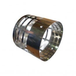 """Элемент конечной трубы """"искрогаситель"""" D80 нерж. сталь"""