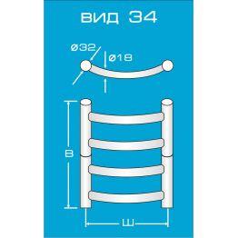 Электрический полотенцесушитель Вид 34