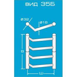 Электрический полотенцесушитель Вид 35 Б