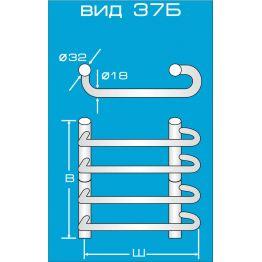 Электрический полотенцесушитель Вид 37 Б