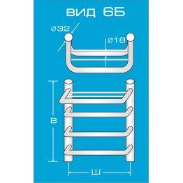 Водяной полотенцесушитель Вид 6 Б