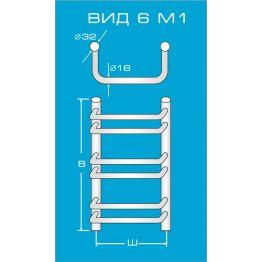 Водяной полотенцесушитель Вид 6 М1