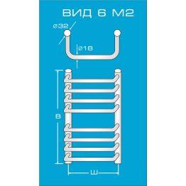 Водяной полотенцесушитель Вид 6 М2