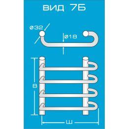 Водяной полотенцесушитель Вид 7 Б