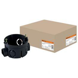 Коробка установочная СП 65x40 IP20 (саморезы, стыковочные углы) черная TDM