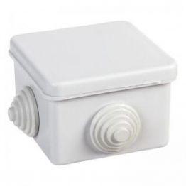 Коробка распаячная для открытой проводки (ОП) 65 х 65 х 50 мм (квадрат), 4 входа ( гермовводы), IP54