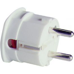 Вилка термопласт 16A, 2P+E, 250V, (белый), ABL 1107110