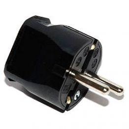 Вилка термопласт 16A, 2P+E, 250V, (черный), ABL 1116100