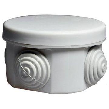 Коробка распаячная 40-0100 для ОП, 65 х 40 мм, IP55, безгалогенная (HF), серый (200 шт) ПРОМРУКАВ 40-0100