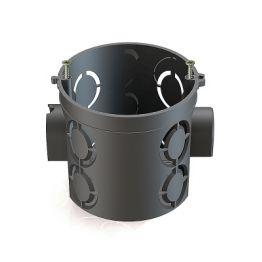 Коробка установочная KMT-1815 для твердых стен, 60х63, полистирол, черная, винты, IP20 EKF