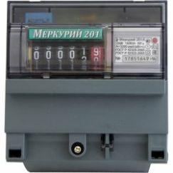 Счетчик 201.2 5-60А 230В 1Ф,1Т,кл.т 1.0 на рейку ЖКИ Меркурий