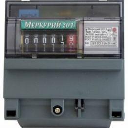 Счетчик 201.2 5-60А 230В 1Ф,1Т,кл.т 1.0 на рейку ЖКИ Меркурий MRC20020