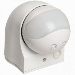 Датчик движения ДД 010 белый, 1100Вт, угол обзора 180 градусов, дальность 10м, IP44, (12шт) IEK LDD10-010-1100-001