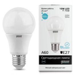 Лампа светодиодная LED A60 E27 7Вт 2700K GAUSS 102502107