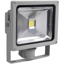 Прожектор светодиодный СДО 05 20Вт 1600Лм 6500К с датчиком движения серый SMD IP44 IEK