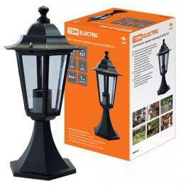 Светильник садово-парковый 6060-04 шестигранник 60Вт стойка/черный TDM SQ0330-0004