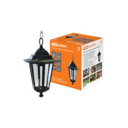 Светильник садово-парковый 6060-05 шестигранник 60Вт подвес/черный TDM SQ0330-0005