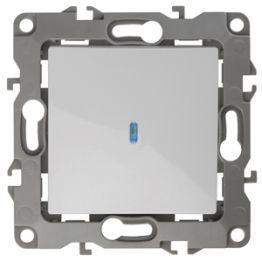 ЭРА Выключатель с подсветкой, 10АХ-250В, Эра12, белый 12-1102-01