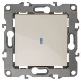 ЭРА Выключатель с подсветкой, 10АХ-250В, Эра12, слоновая кость 12-1102-02