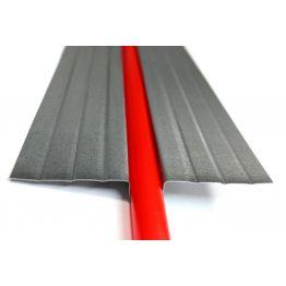 Теплораспределительная пластина 132*1000 мм из оцинкованной стали 0,5 мм 2222222