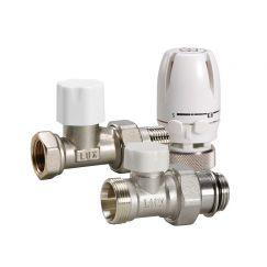 Блистер термостатический комплект прямой КТ 201 3/4 Luxor