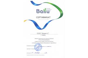 Сертификат Ballu