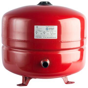 Расширительный бак 35л красный Stout STH-0005-000035