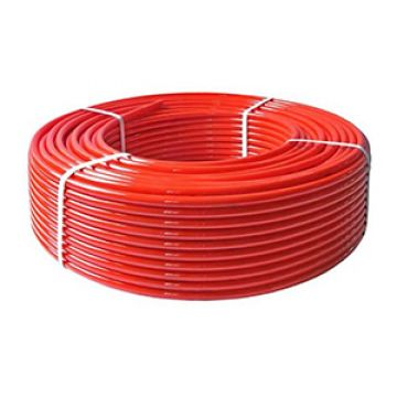 Труба PEX-а 20х2,0 STOUT с кислородным слоем, красная (бухта 100м) SPX-0002-002020